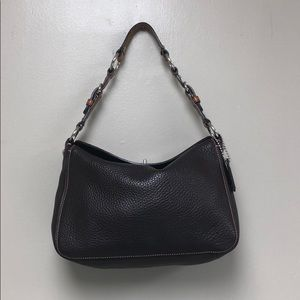 Coach small shoulder bag brown leather